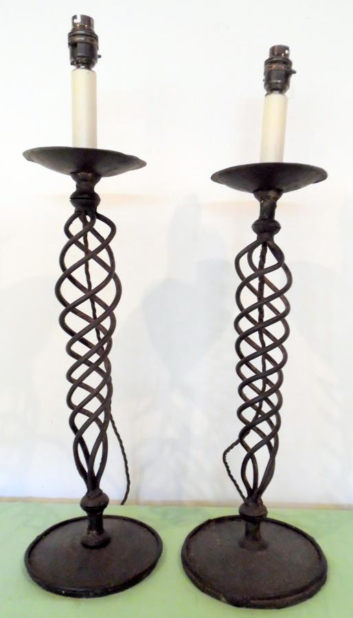 Wrought iron pricket sticks