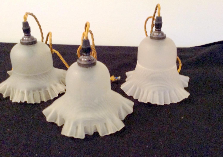Milk glass pendants
