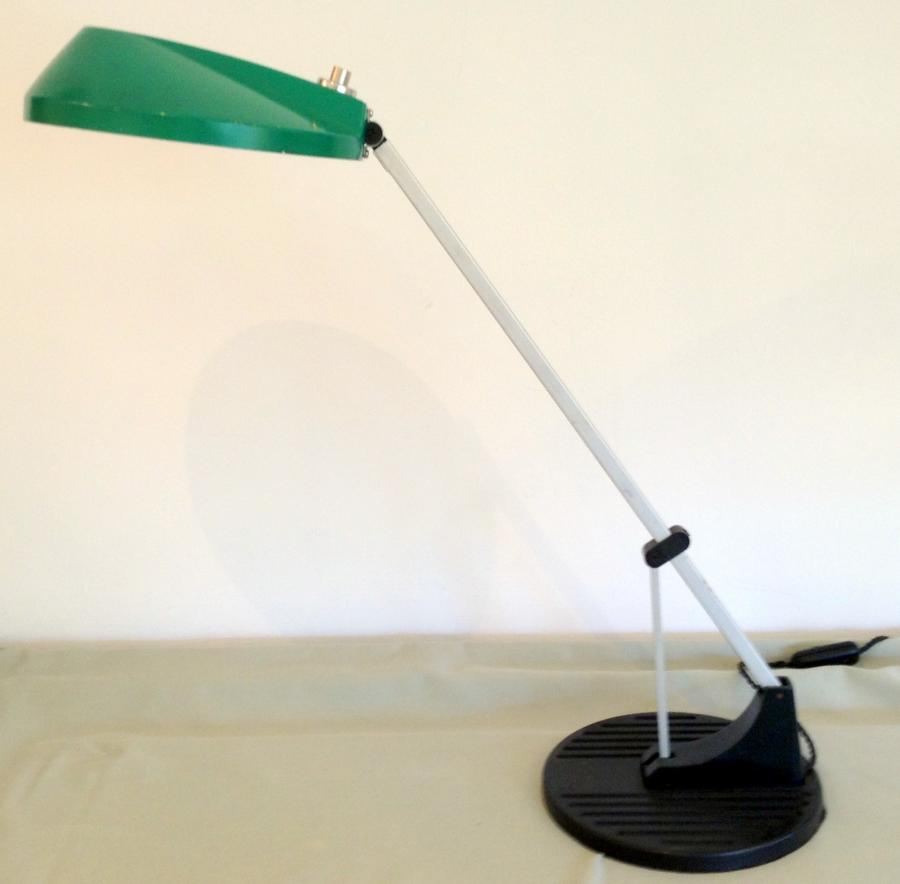 Green and black anglepoise