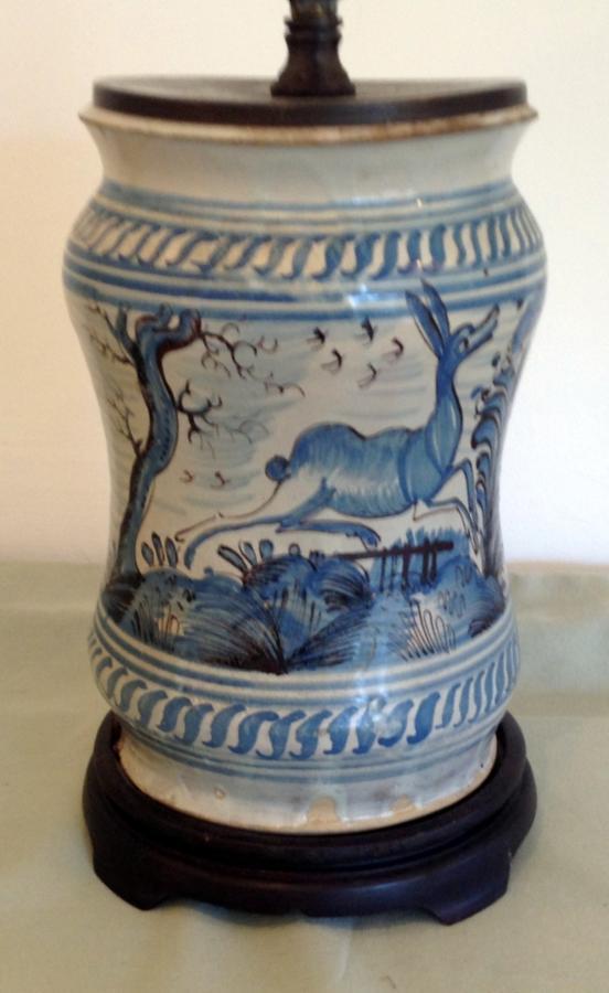 Portuguese ceramic lamp