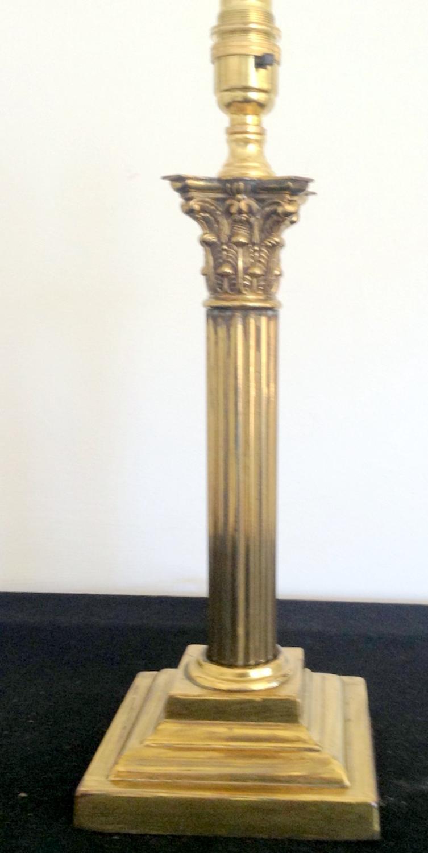 Brass Corinthian column