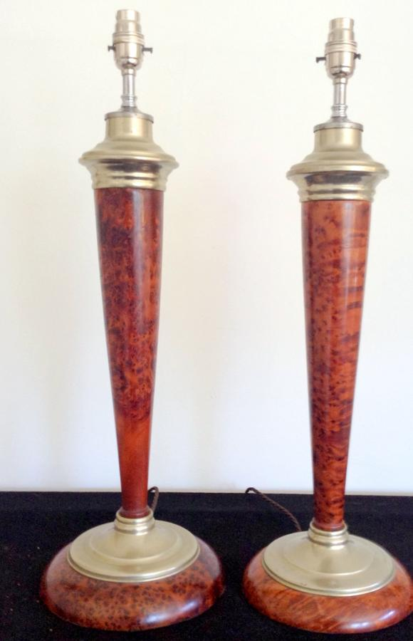 Pr Burr walnut and nickel columns