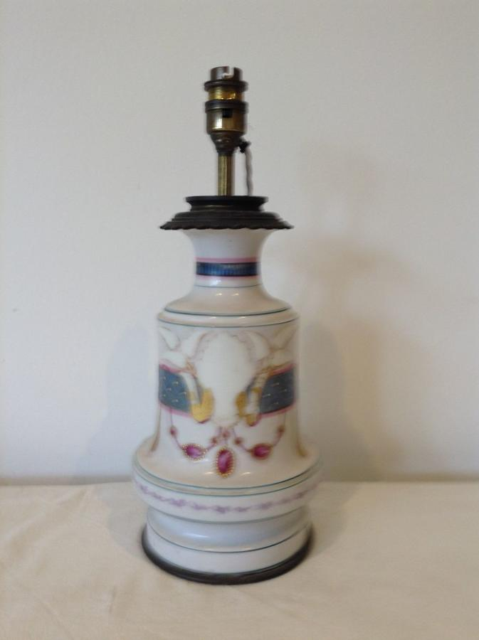 French porcelain lamp c1890