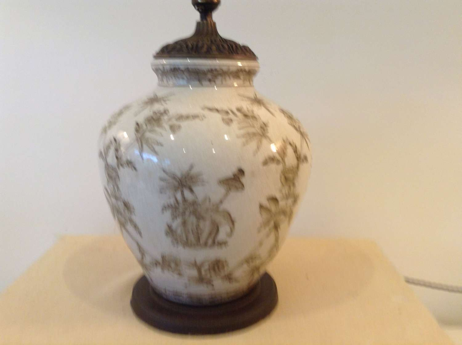 Ginger Jar lamp with Chinese figures