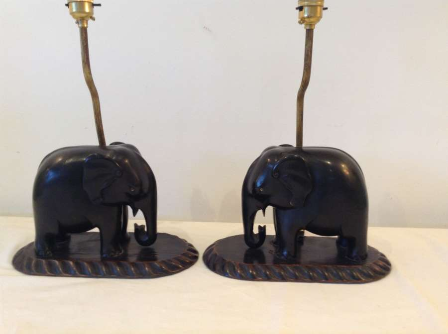 Pair Indian elephants