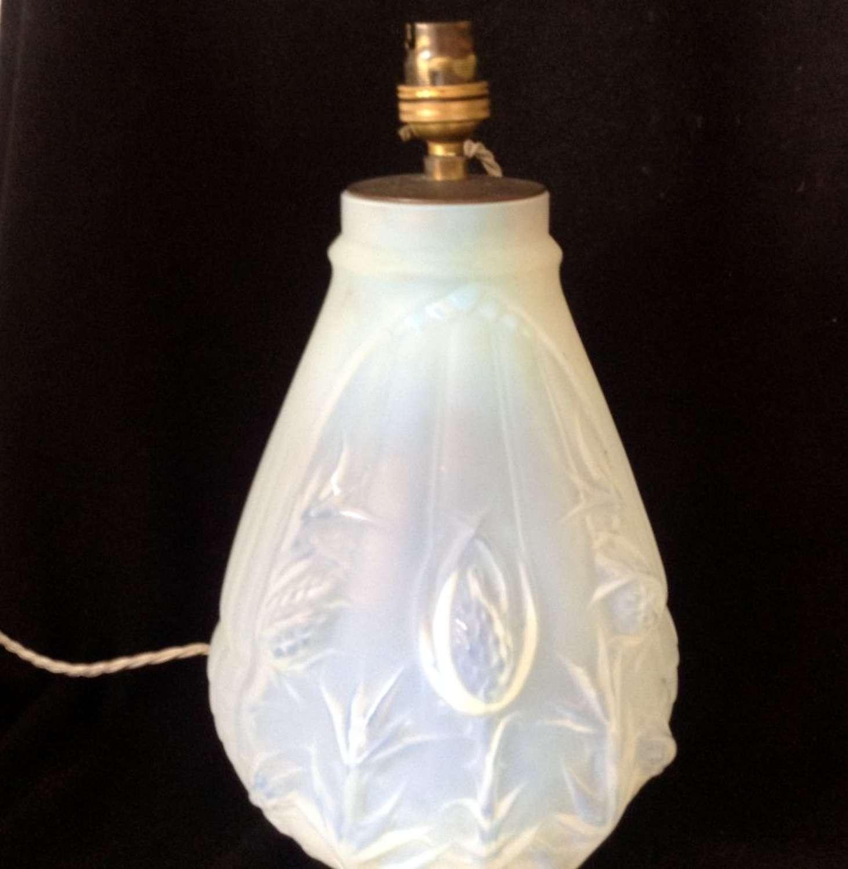 1930's opal glass lamp