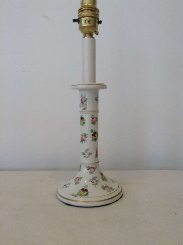 Floral Porcelain Candlestick lamp